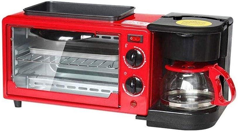 HEMFV 3-en-1 multifunción Desayuno Máquina - Tostadora de Gran diámetro de la Plancha Pan Y Cafetera - se Puede programar: Amazon.es
