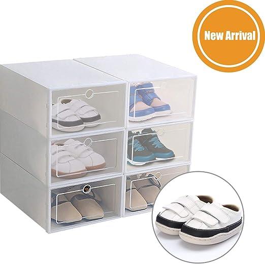 PopHMN Caja De Zapatos Apilable Tipo Cajón, Caja De Almacenamiento ...