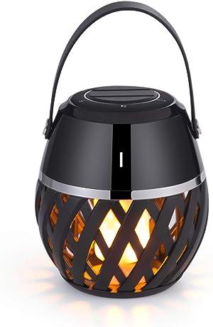 Led Bluetooth Speakers Portable Wireless Speakers Flickering Flame Lights Lantern Bluetooth Speaker Torch Atmosphere Table Lamp Stereo Sound Indoor Outdoor Speakers