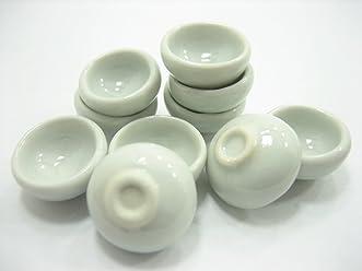 New 20x18 mm White Round Bowls Dollhouse Miniatures Ceramic Kitchen 10596