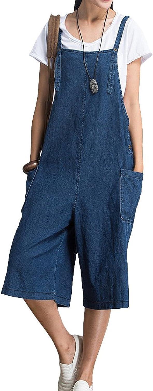 Landove Salopette Donna Overall Jeans Tuta Pagliaccetti Estive Elegante Pantaloncini Baggy Strappy Jumpsuit Monopezzi e Tutine Tasche Ufficio Spiaggia Partito Playsuit