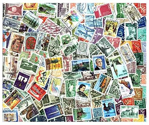 Finland Stamp Collection - 200 Different Stamps