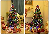 Christmas Tree Hinged Metal Stand PVC Aritifical Plant Holiday Decoration (6ft 1000tips)