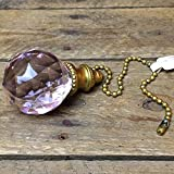 Ganz Pink Gem Orb Fan Pull / Light Pull