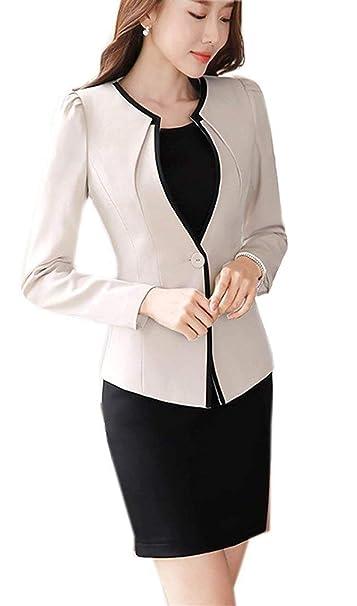 71906181e820a Blazer Mujer Elegante Primavera Otoño Talla Grande Negocios Modernas  Chaqueta De Traje Slim Fit Fashion Manga Largo Botonadura Camisa Cazadoras  Outerwear ...