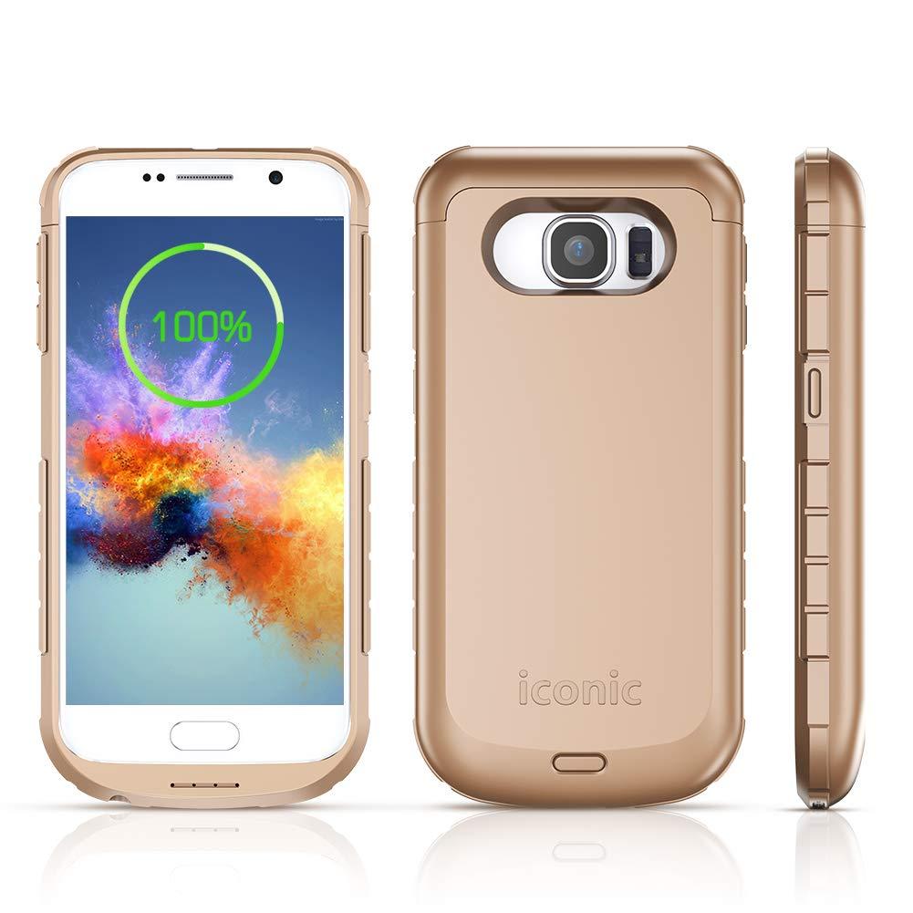 Funda Con Bateria De 4200mah Para Samsung Galaxy S6 Iconic [7nqgprjy]