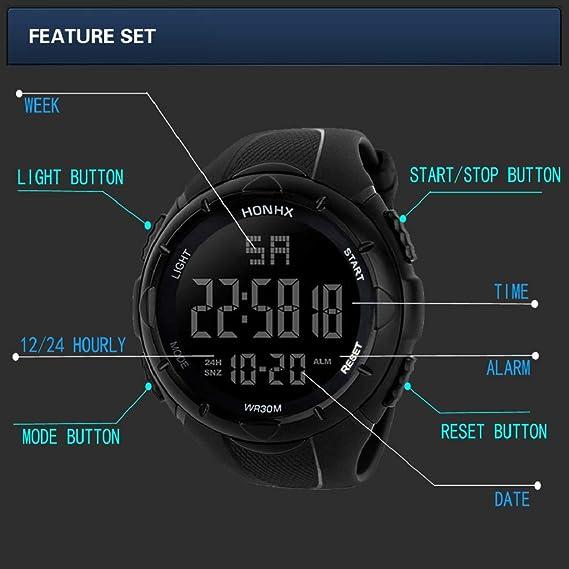 Luckycat Reloj Digital para Hombre para Actividades al Aire Libre ...