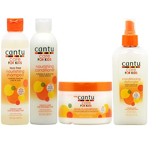 2. Cantu Care for Kids Shampoo + Conditioner + Leave-in Conditioner + Detangler