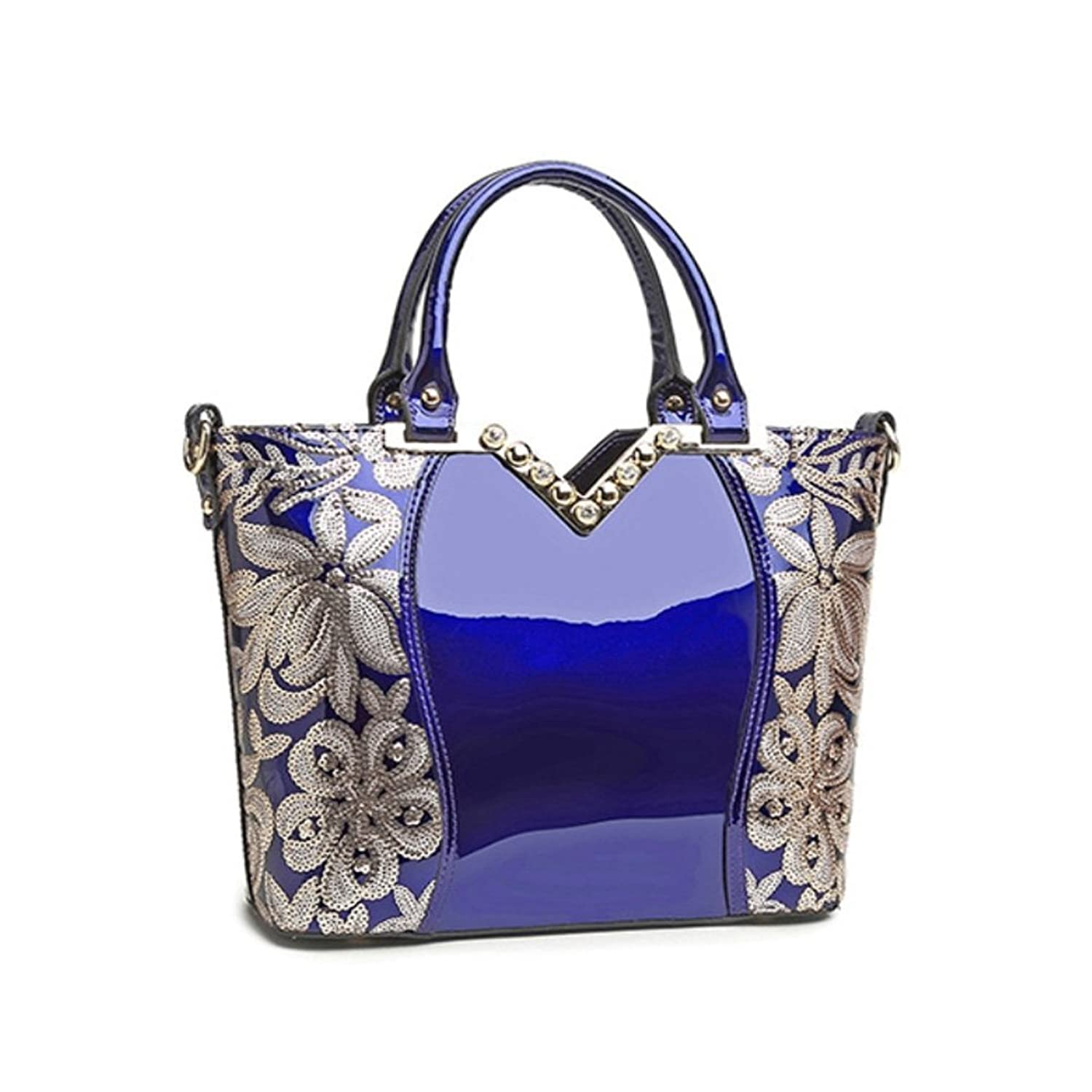 PPSTAR HB700045 Fashion PU Leather Korean Version Women's Handbag,Square Cross-Section Diana Package