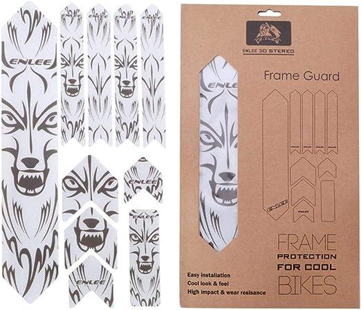 Rlorie Adhesivos para bicicleta, protector de marco tridimensional ...