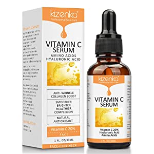 PREMIUM Vitamin C Serum For Face and Eyes with Hyaluronic Acid Serum - Anti Ageing & Anti Wrinkle Serum - This Vitamin C Serum Will Plump, Hydrate & Brighten, Anti Wrinkle, Anti Aging, Fades Age Spot