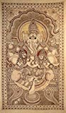 Large Painting of Lord Ganesha - Kalamkari Painting on Cotton