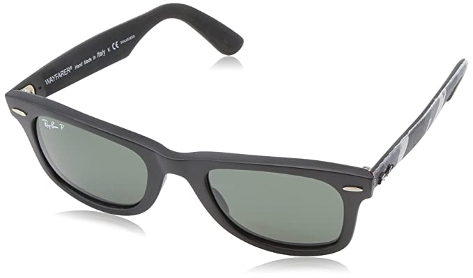 polarized ray ban wayfarers  Amazon.com: Ray-Ban WAYFARER - MATTE BLACK Frame POLAR GREEN ...
