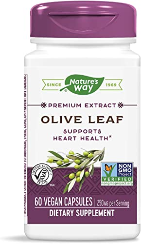 Nature s Way Olive Leaf, Premium Extract Supplement, 250 mg per serving, 60 Capsules
