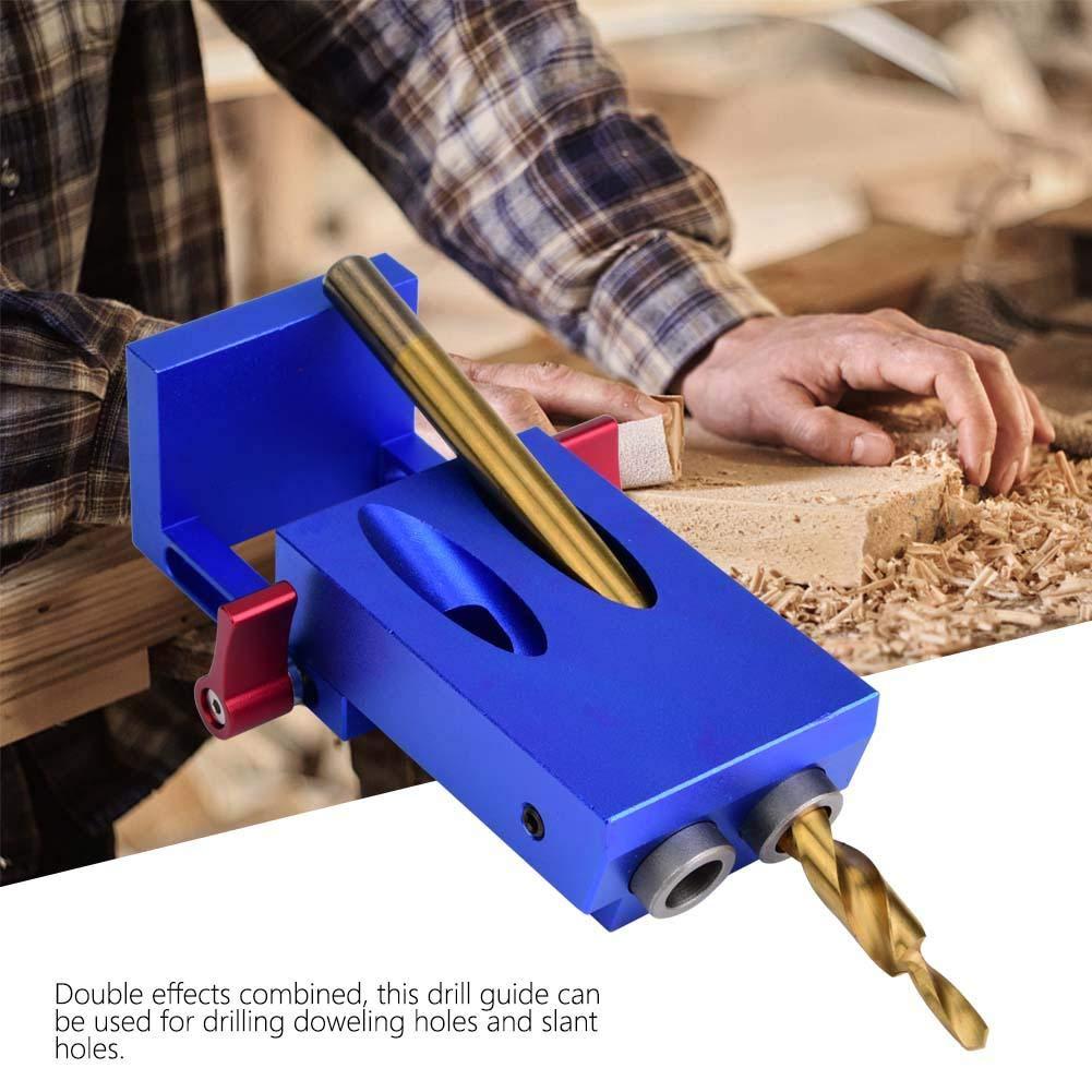 kit de positionnement de goujonnage pour le forage du bois gabarit de mat/ériel pour trous obliques Localisateur de poin/çons de poche outils de guide de per/çage mod/èle dinstallation du bouton de p
