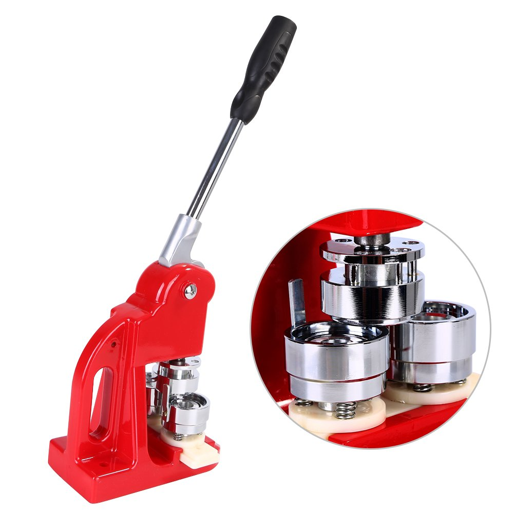 Button Badge Maker,25/32/58mm Badge Punch Press Maker Machine with 1000 Circle Button Parts School DIY Button Badge Maker (32mm) by Zerone
