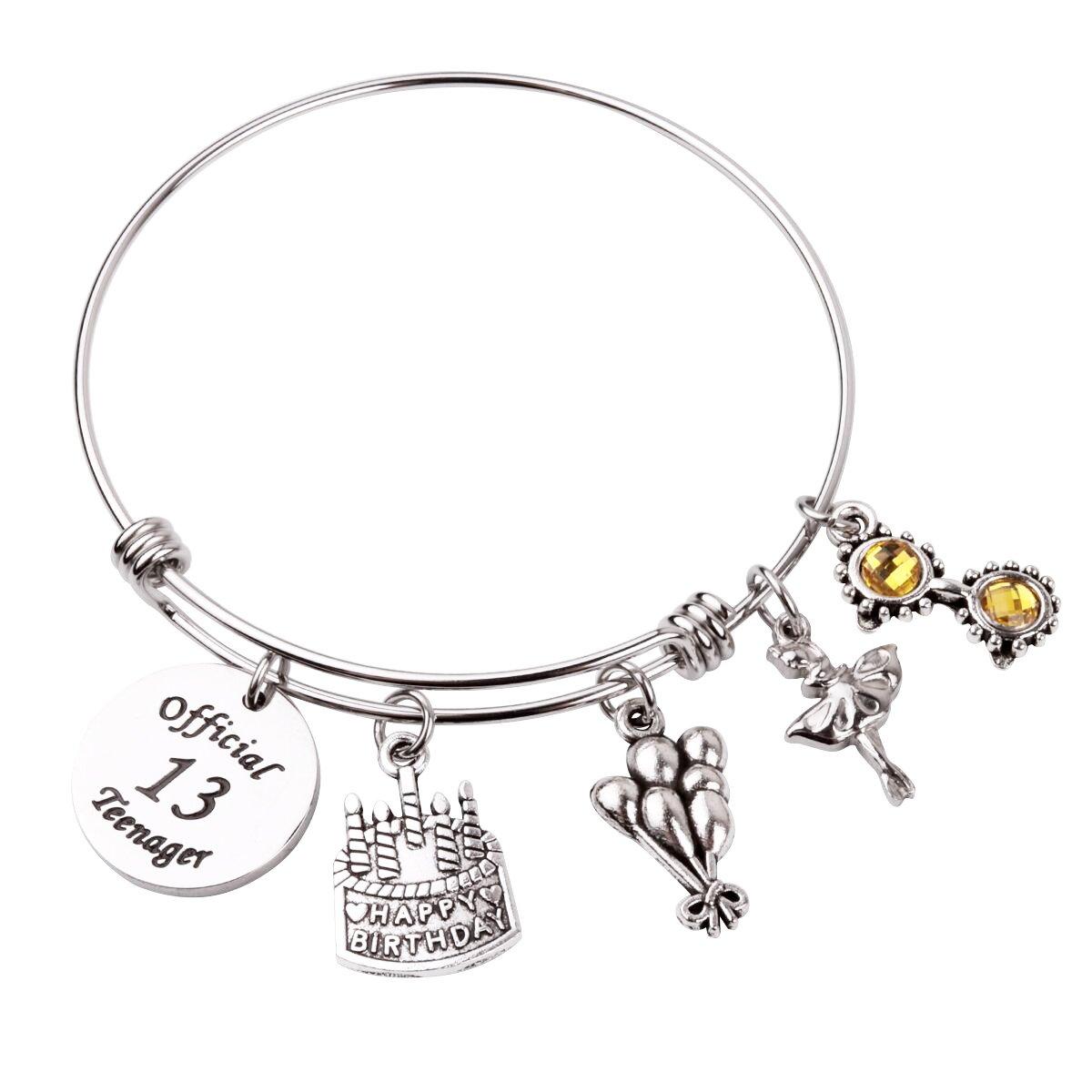 RUNXINTD Birthday Bracelet for Girl Birthday Jewelry Gift for Granddaughter daguhter Niece 13th Sweet 16 18th 21st