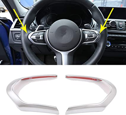Carbon Fiber ABS Steering Wheel Cover Sticker Trim For BMW X3 X4 X5 2014-2017