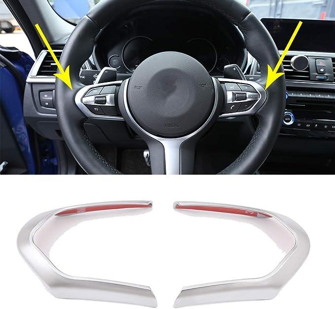 Sports Red Aluminum Steering Wheel Center Decoration Cover Trim For BMW 1 2 3 4 5 6 Series X4 X5 X6 F20 F21 F22 F23 F30 F31 F32 F33 F35 F36 F10 F11 F12 F13 F26 F15 F16 iJDMTOY 1