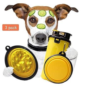 Amazon.com: DeerBeer – Botella de agua para mascotas con 2 ...
