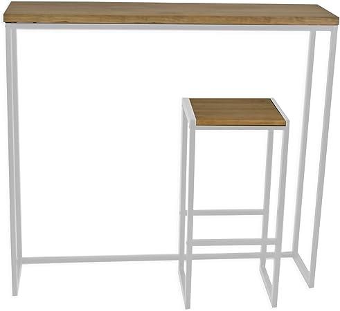 Table Haute Mange Debout Icub Industriel Vintage Bois Et Metal
