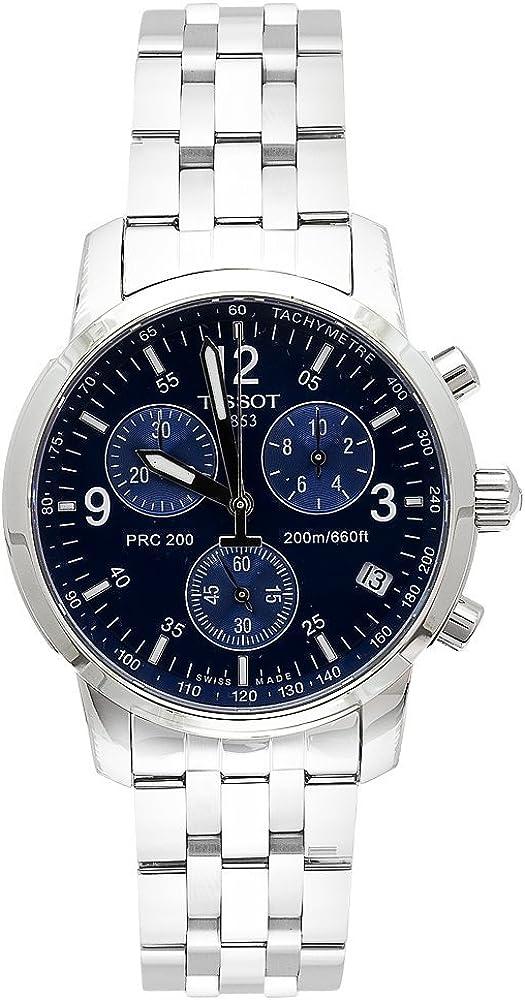 Tissot T17158642 T-Sport PRC200 Reloj cronógrafo de Acero Inoxidable con Esfera Azul