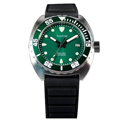 Pantor de foca 300 M automático 42 mm Pro buceo reloj para hombres con válvula de helio bisel giratorio Sapphire correa de caucho: Amazon.es: Relojes