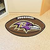 """Fan Mats NFL Baltimore Ravens Football Rug 22""""x35"""""""