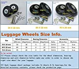 2 Set of Luggage Suitcase Replacement Wheels with ABEC 608zz Bearings, Packaged with our own designed bag @ Eric & Leon Logo