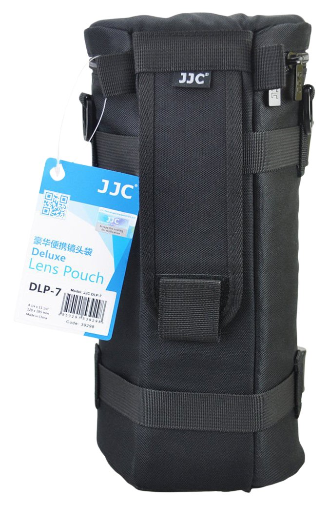 JJC DLP-7 Deluxe Water-Resistant Lens Pouch Case for Tamron SP 150-600mm F5-6.3 Di VC USD G2, Sigma 150-500mm F5-6.3 DG OS HSM, Nikon AF-S NIKKOR 200-500mm f5.6 ED VR, fits Lens Up to 144x 316mm by JJC