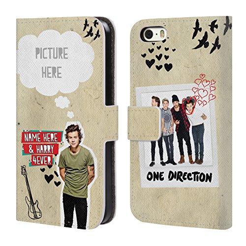 Cover Personalizzata Personale One Direction 1D Harry 4ever I Ship Us A Portafoglio Per Apple iPhone 5 / 5s / SE