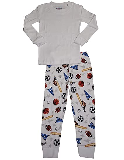 Amazon.com  Sara s Prints - Little Boys Long Sleeve Long John Sport Pajamas 5b4fbe144