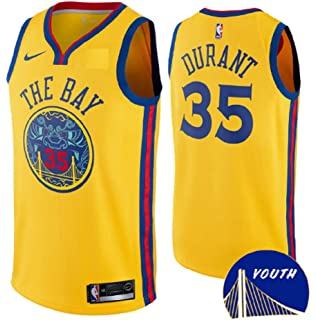 f22a72d6485 Nike Youth s NBA Golden State Warriors  30 Stephen Curry Authentic Jersey  Gold City Edition