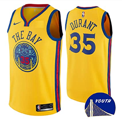 09fb0b612 Nike Youth Golden State Warriors Kevin Durant  The Bay  Swingman Jersey ...