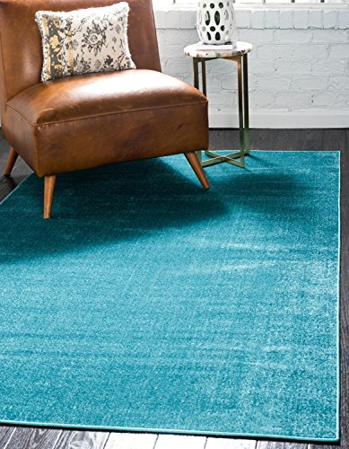 Unique Loom Williamsburg Collection Casual Solid Teal Area Rug (9' 0 x 12' 0) (Area Rug Teal 9x12)