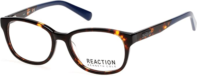 Demo Lenses Kenneth Cole Reaction Eyeglasses KC0751-056  Havana Frame