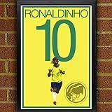 Ronaldinho Poster - Brazil Soccer Art
