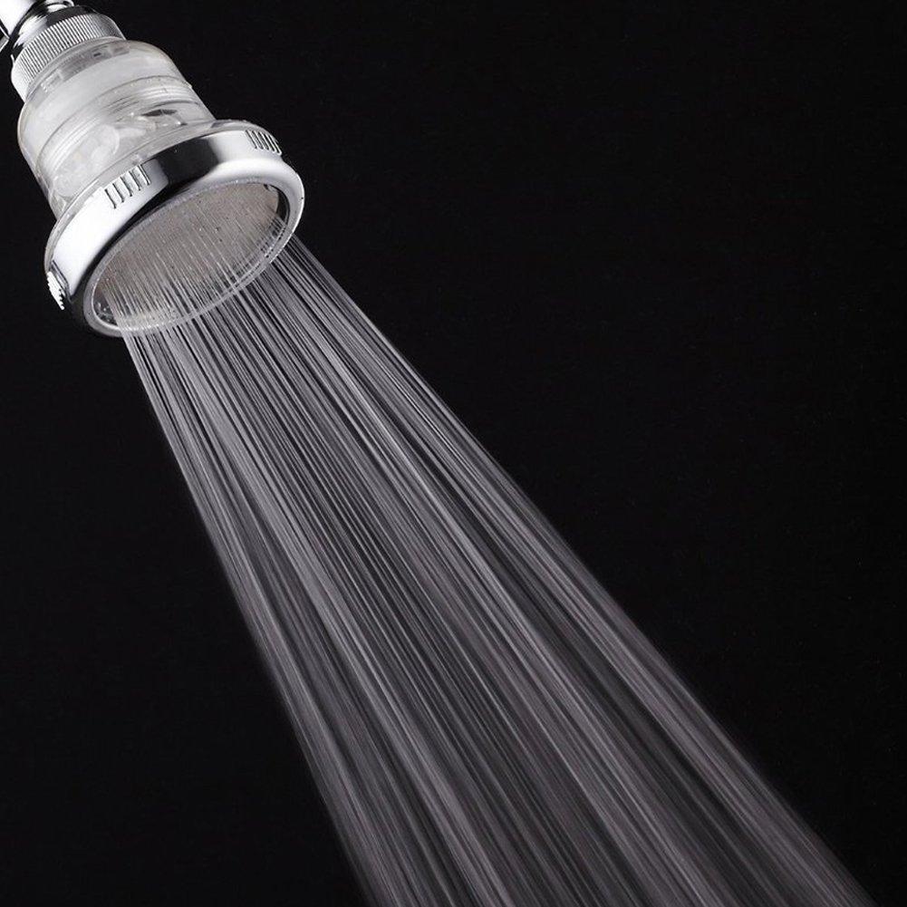 3 Inch Filtered Shower Head Chlorine Filter & Hard Water Softener, High  Pressure Flow Ionic Purifier Showerhead, Best Dechlorinating & Softening  Filtration