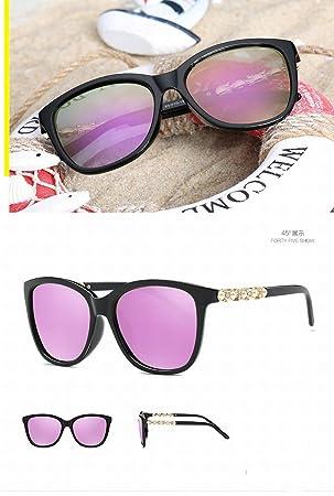 Gafas de Sol Polarizadas Moda Gafas de Sol de Gafas Grandes Gafas de Sol Y Gafas de Sol , Caja Negra Brillante Hyun Purple: Amazon.es: Deportes y aire libre