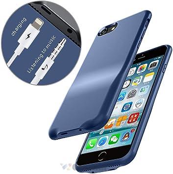Cocomii 3.5mm Headphone Jack & Lightning Port Audio iPhone 8 Plus/7 Plus Coque, Svelte Adaptateur Aux Chargez & Écoutez Case Bumper Cover Étui Housse ...