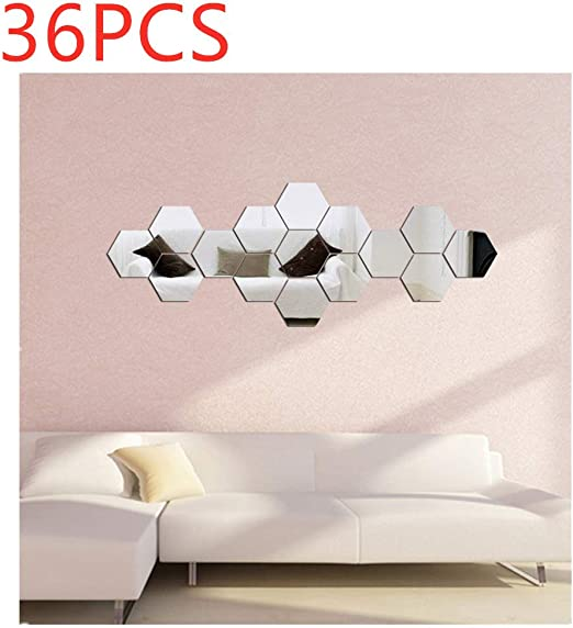 1 Pc Self Adhesive Wall Sticker Useful Mirror Sheet for Bedroom Home Living Room