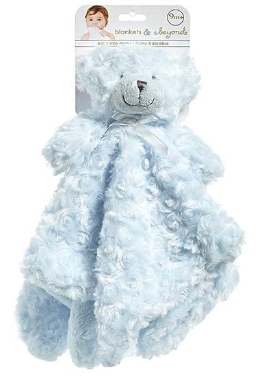 Amazon Com Blankets And Beyond Blue Rosette Bear Nunu Baby Security