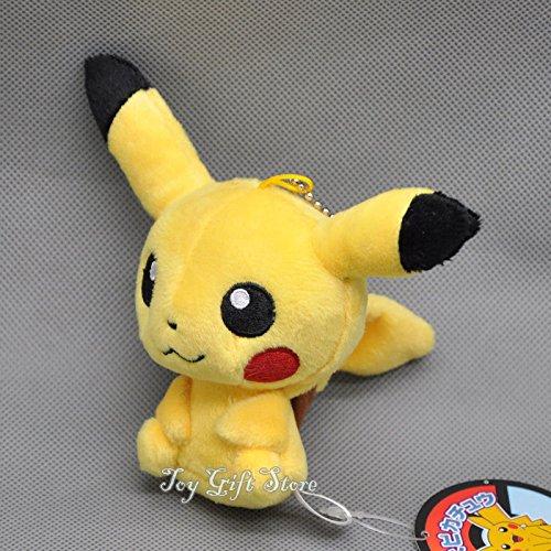 Q Poke Pikachu Plush Figure Toy Keychain 4