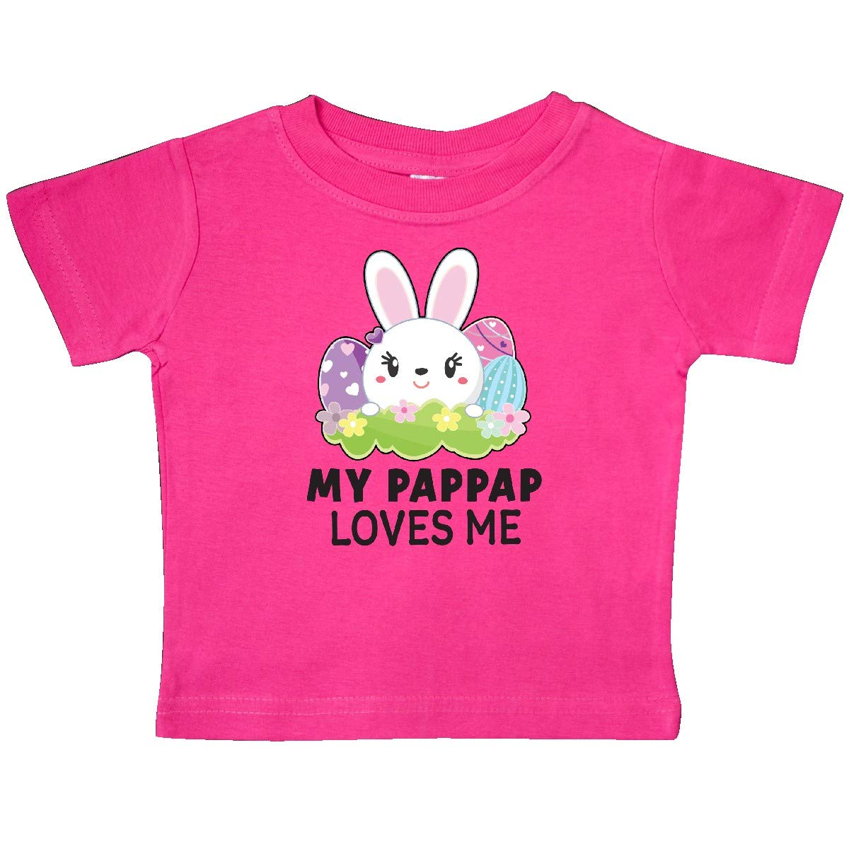 inktastic My Pappap Loves Me with Bunny and Easter Eggs Baby T-Shirt