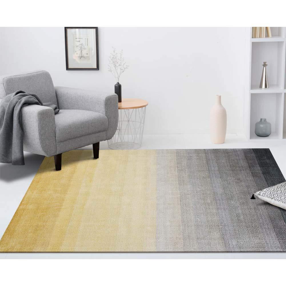 CarPET Teppich_Nordic einfache Ebene Wohnzimmer Couchtisch Schlafzimmer Nachttischteppich American Colourful Gradient gelb/blau / rot Geeignet für alle Arten von Räumen Größe: groß