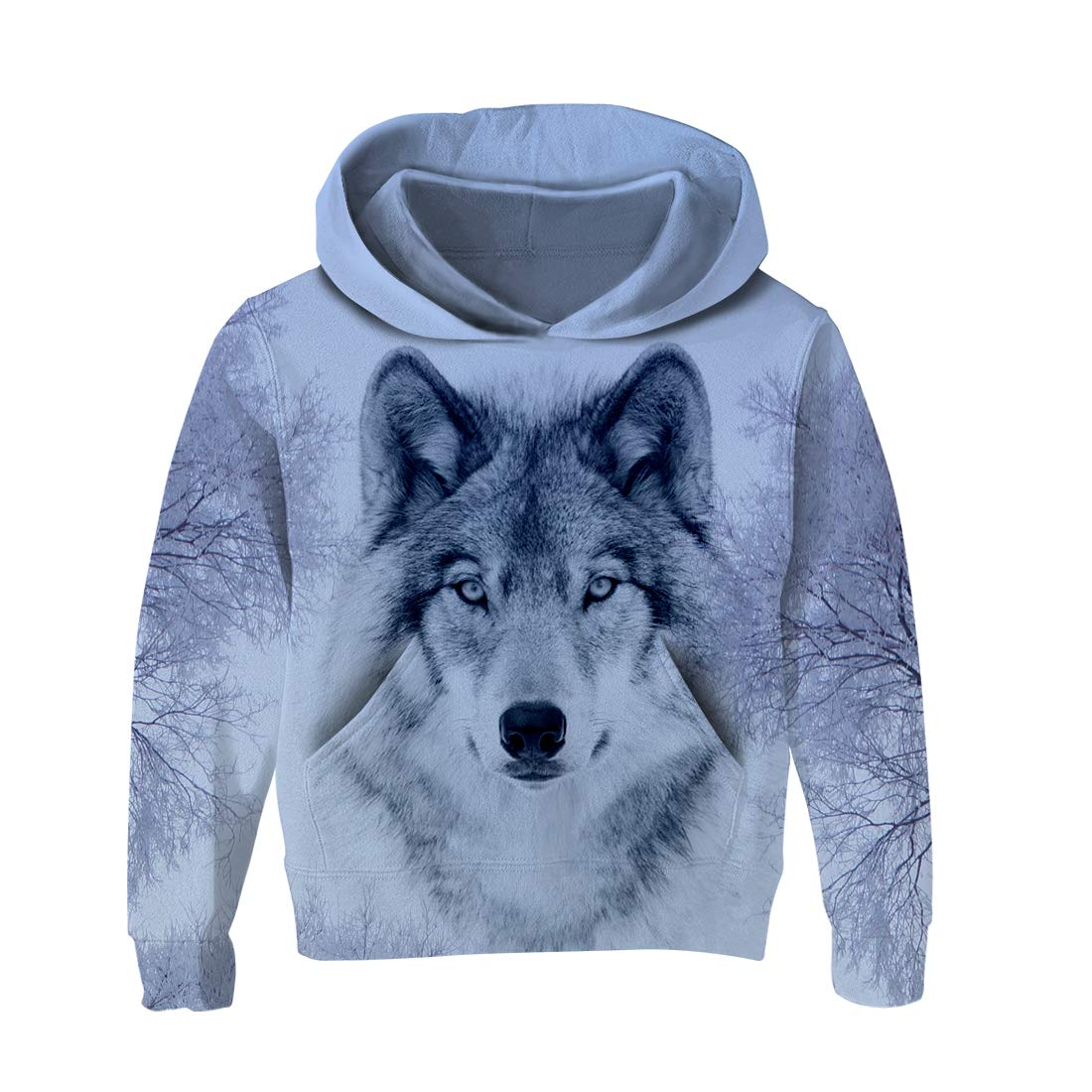 AIDEAONE Kids Boys Girls 3D Print Fleece Pullover Hoodies Sweatshirt with Kangaroo Pocket