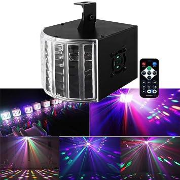 QJJML Proyector Navidad,Luces LED De Discoteca,Escenario Sonido ...