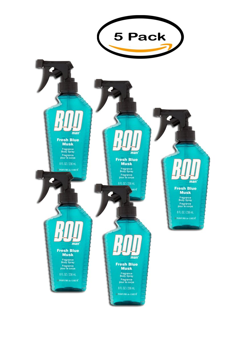 PACK OF 5 - BOD Man Fresh Blue Musk Body Spray, 8 fl oz