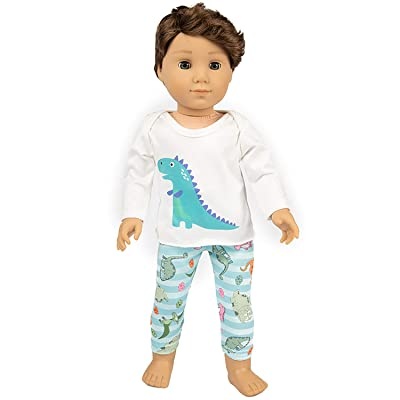 Ecore Fun American 18 Inch Boy Girl Doll Clothes Pajamas Tracksuit for 18 Inch Boy Doll or Girl Doll - Birthday Reward Gift: Toys & Games