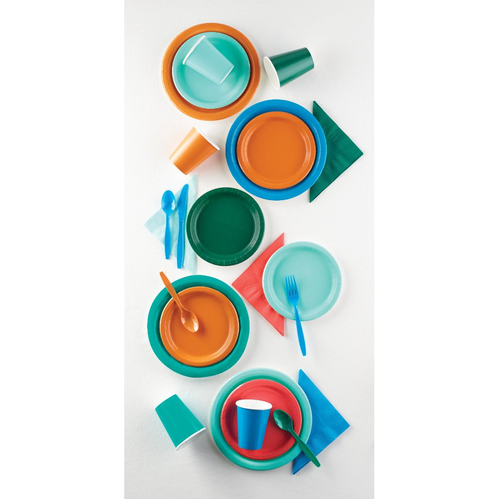 Creative Converting 324780 Touch of Color 240 Count 12 oz Plastic Cups, Teal Lagoon by Creative Converting (Image #3)